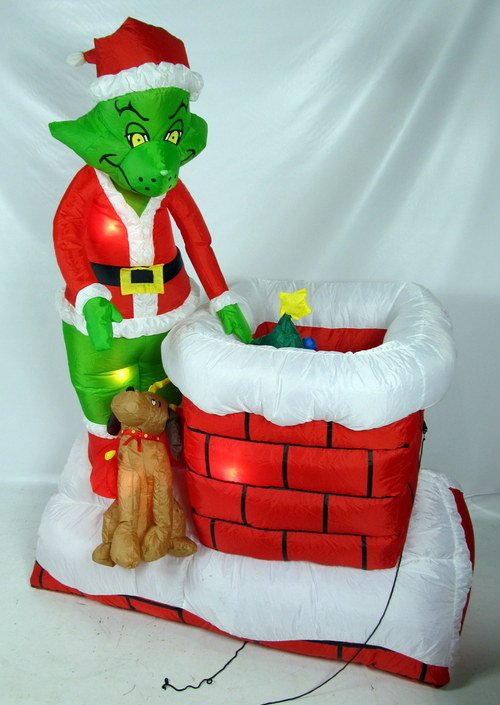 Grinch 6 ft animated airblown outdoor inflatable christmas lawn decor