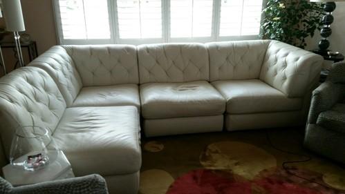 Macy 39 S Modular White Leather Rosario Sofa Sectional Set Ebay