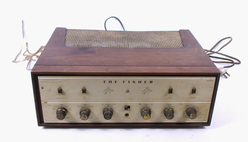 VINTAGE 60'S FISHER X100B STEREO TUBE AMPLIFIER IN FISHER WOOD CABINET | MartLocal