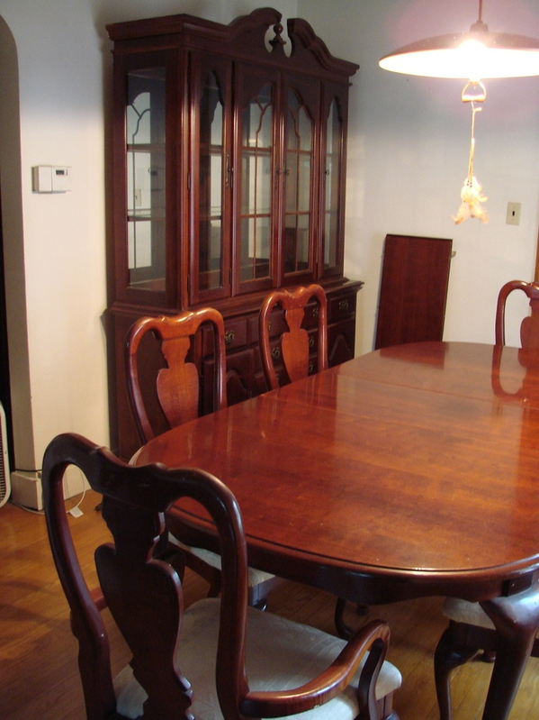 10pc American Drew Cherry Grove Dining Room Table Set