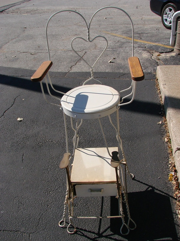 Antique Furniture Cast Iron Shoe Shine Chair And Stand Local Pick Up Only Ebay
