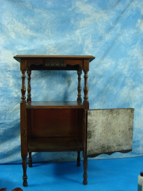 VTG Copper Lined Pipe Smoke Tobacco Stand Table Humidor Cabinet ...