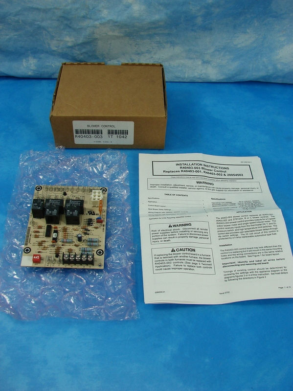new armstrong furnace blower circuit board r40403 003 it 1042 w instruc ebay