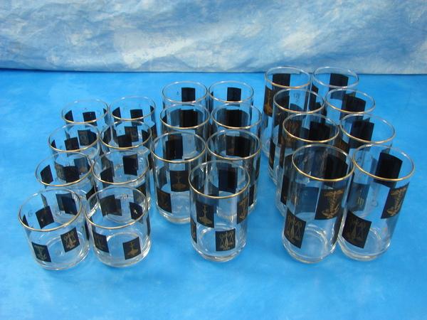 COOL Vtg 23 Pce Set Pharmacy Rx Drinking Glasses Barware 3 ...