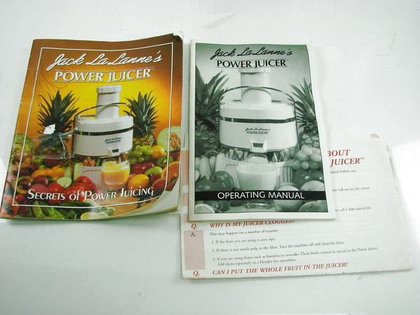 Jack Lalanne Power Juicer Pusher ~ Jack la lanne s power juicer model cl ap white with
