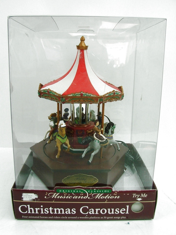 Mr christmas music and motion 50 songs carousel holiday merry go round
