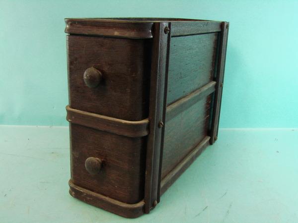 lot of 2 vintage wooden singer sewing machine singer craft. Black Bedroom Furniture Sets. Home Design Ideas