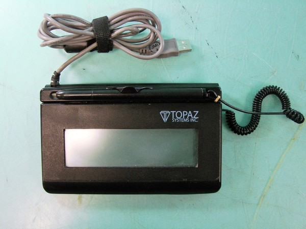Lot Of 2 Topaz Systems Electronic Signature Pads Model T
