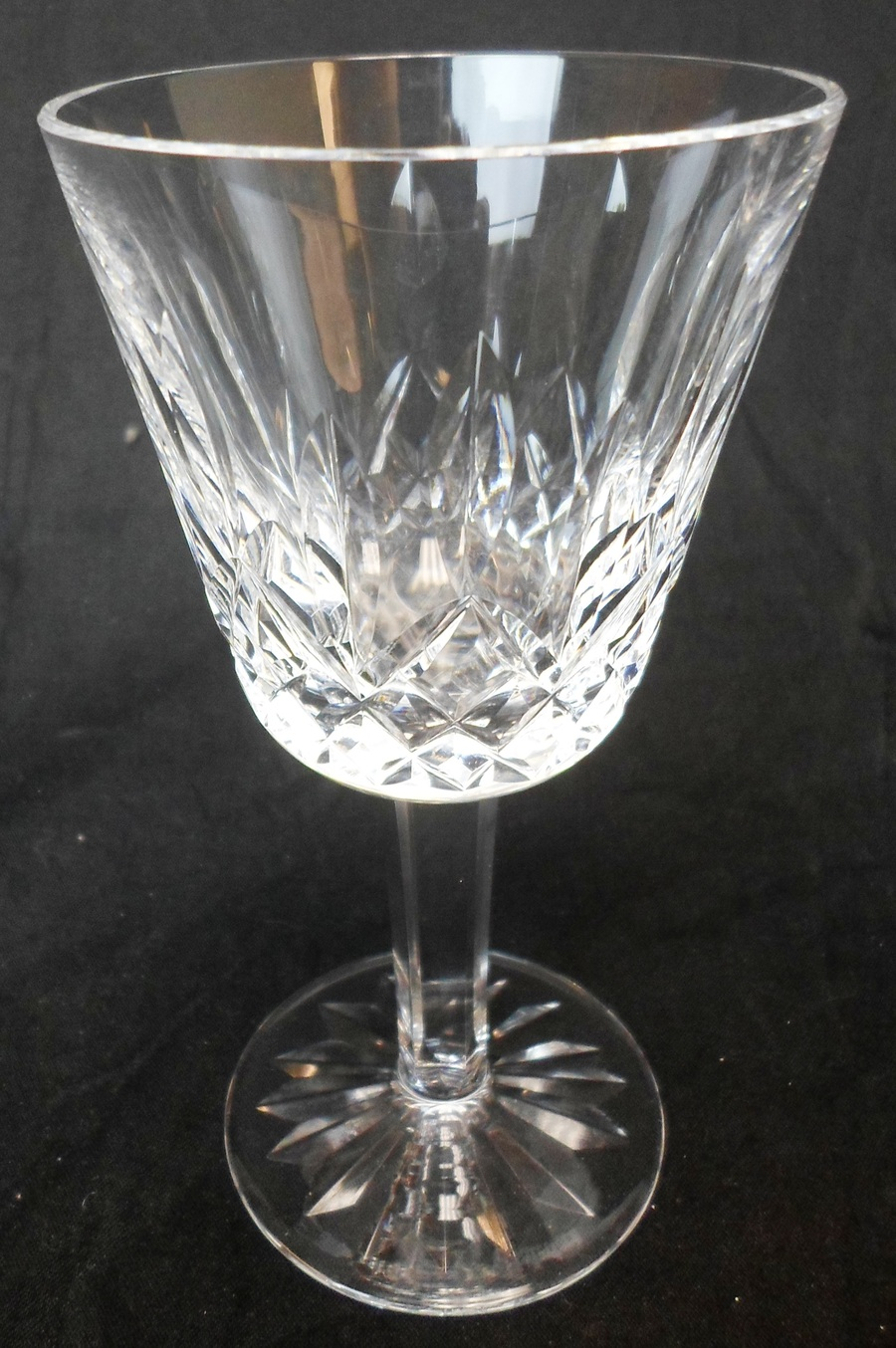 7 waterford crystal lismore claret wine glasses ebay - Wedgwood crystal wine glasses ...