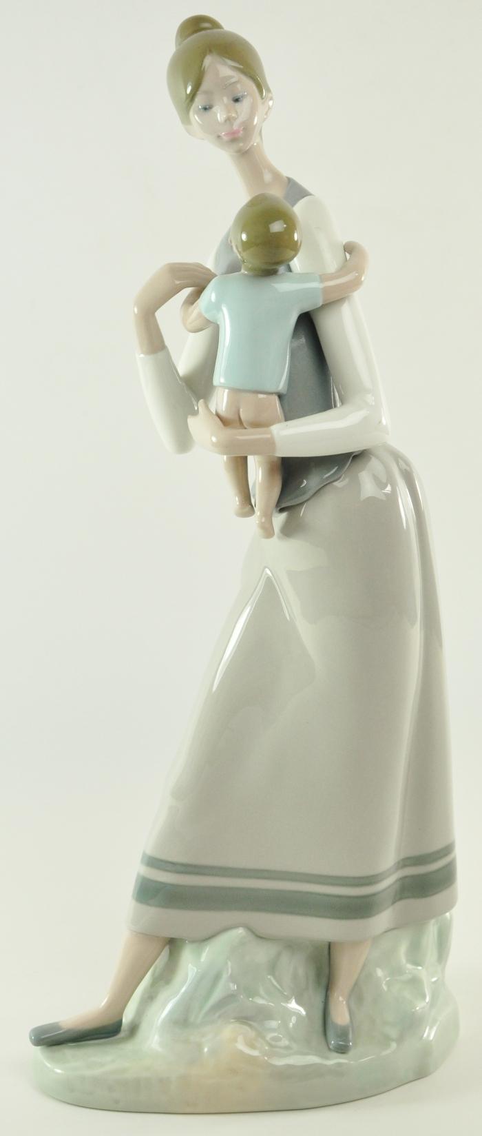 Lladro Motherhood Mother and Child Figurine Group #4701 Baby Retired Vintage  eBay