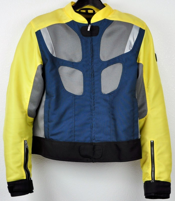 bmw airflow 2 motorcycle jacket yellow blue sz 52 men 39 s ebay. Black Bedroom Furniture Sets. Home Design Ideas