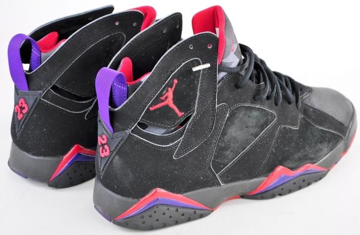 Air Jordan 7 Retro Raptors Black Dark Charcoal Red shoes