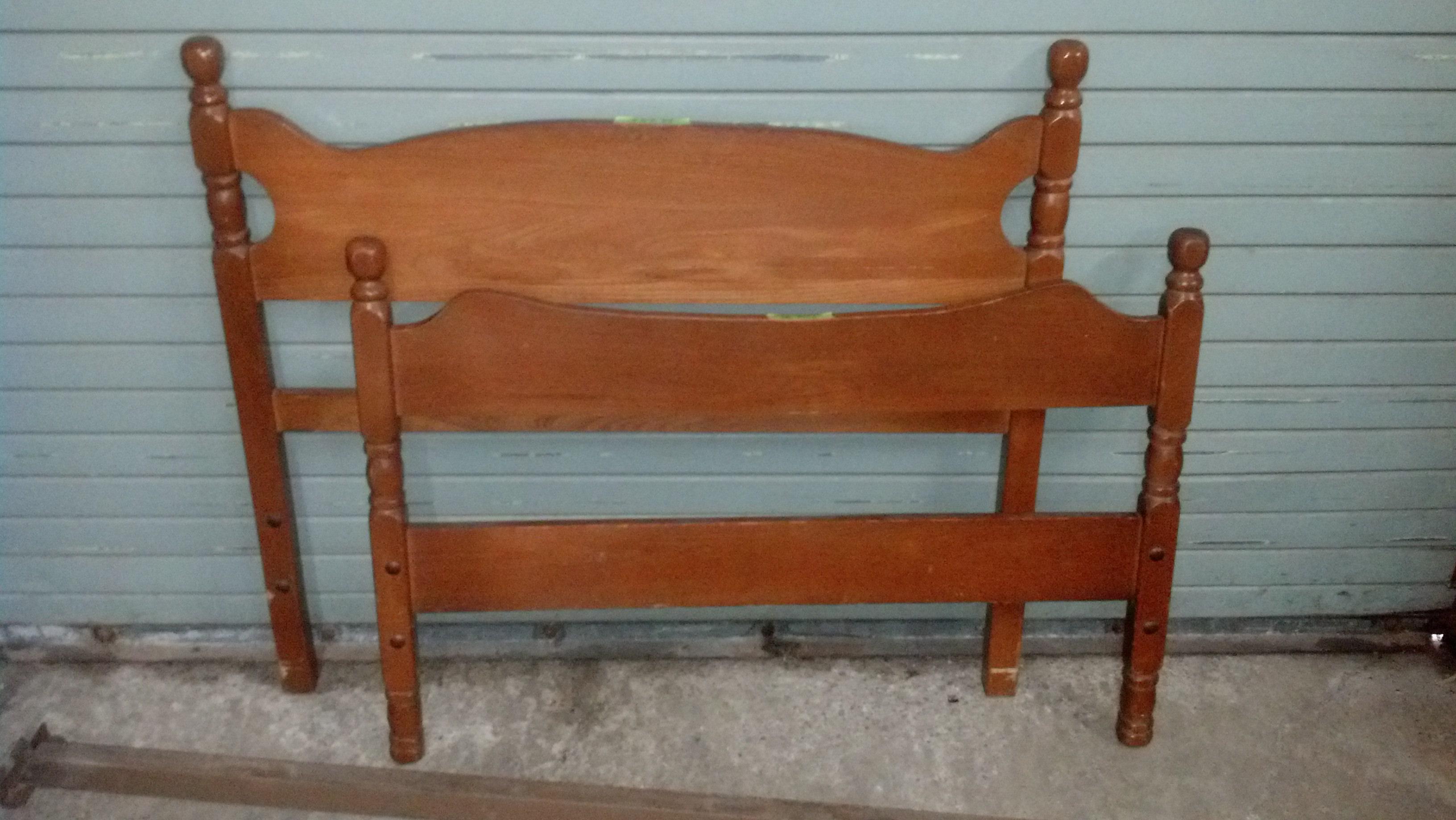 Twin Headboard and Footboard - Wood
