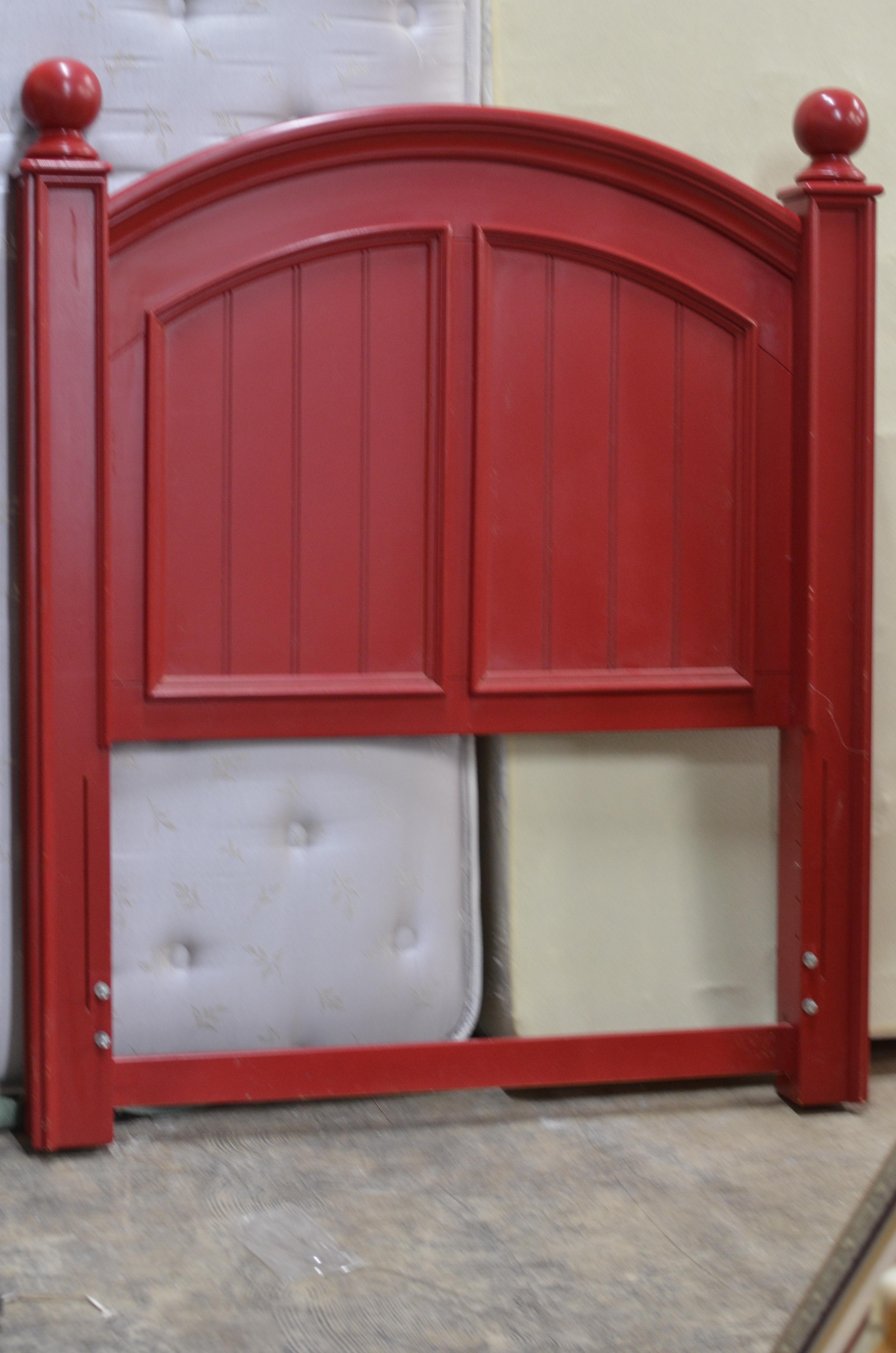 Red Wood Twin Headboard
