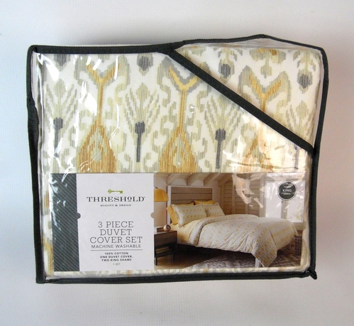 Threshold 3 Piece Duvet Cover Set Global Ikat Duvet