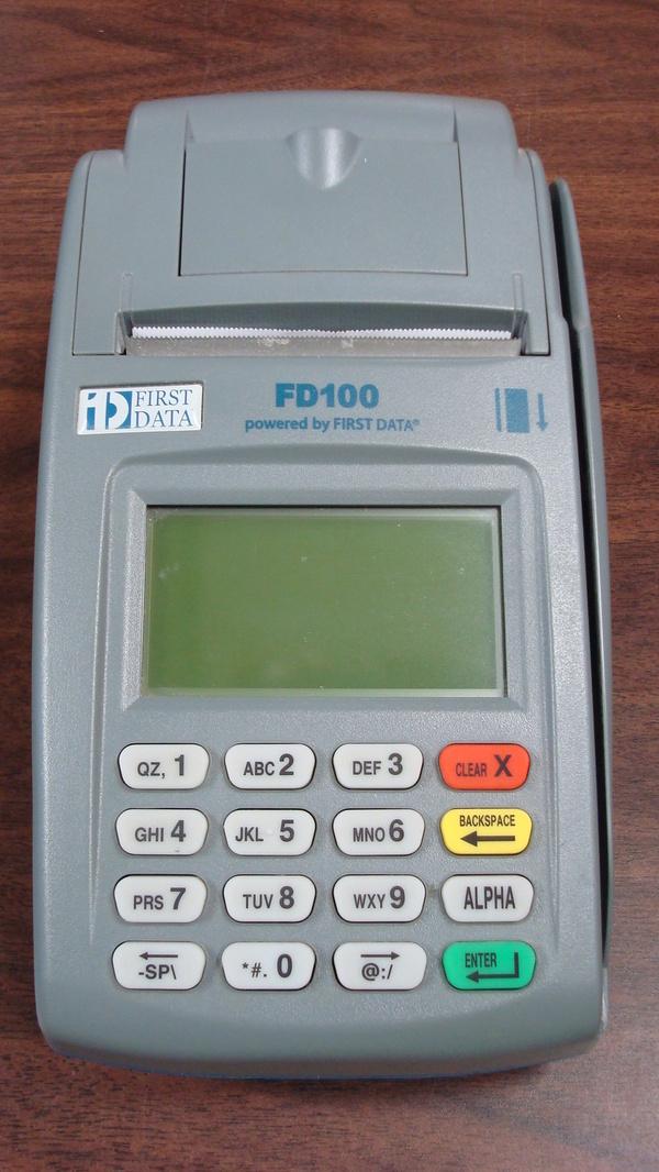 fd100 credit card machine