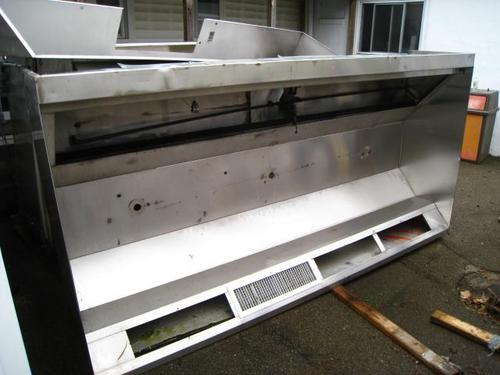 Commercial Vent Hoods ~ Ft stainless steel commercial restaurant exhaust fume