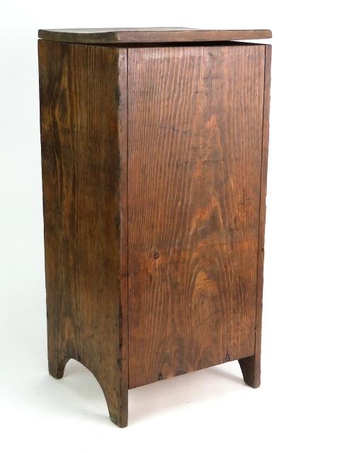 Antique 28 Handmade Wood Laundry Clothes Hamper Lidded Kitchen Storage Bin Ebay