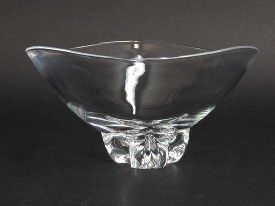Steuben trillium footed centerpiece bowl 10 crystal pollard 1958 signed ebay - Footed bowl centerpiece ...