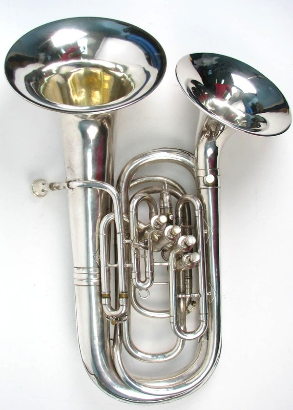 vintage 1927 king h n white double bell front euphonium