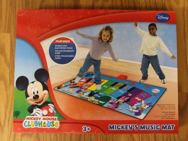 Nib Mickey Mouse Clubhouse Music Mat Amp Electronic Piano
