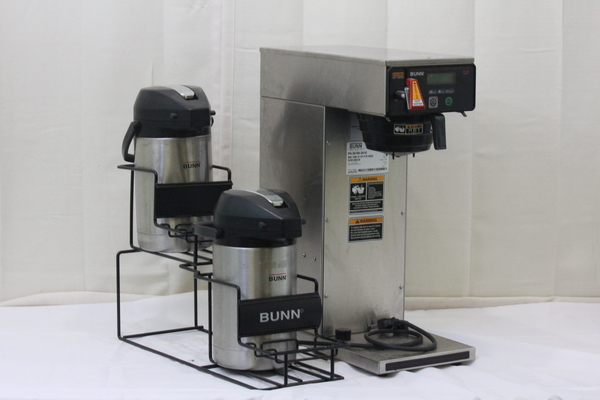 Bunn AXIOM-D-APS Airpot Commercial Tea & Coffee Maker With Carafes & Holder eBay