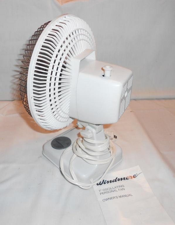 Vintage Ge Fan Model Numbers : Vintage windmere small quot oscillating desk fan speed