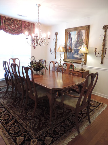 Century Furniture Co Queen Ann Style Dining Room Table Buffet Server 8 Chairs Ebay