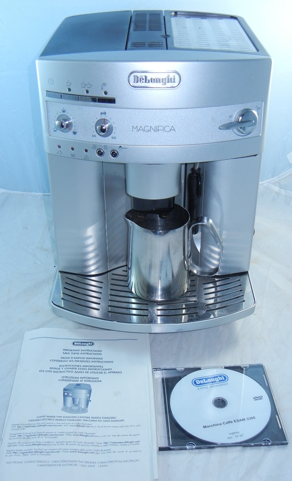 Delonghi Coffee Maker Cleaning Instructions : DeLonghi Magnifica Espresso Coffee Machine Model ESAM-3300 w Instructions + CD