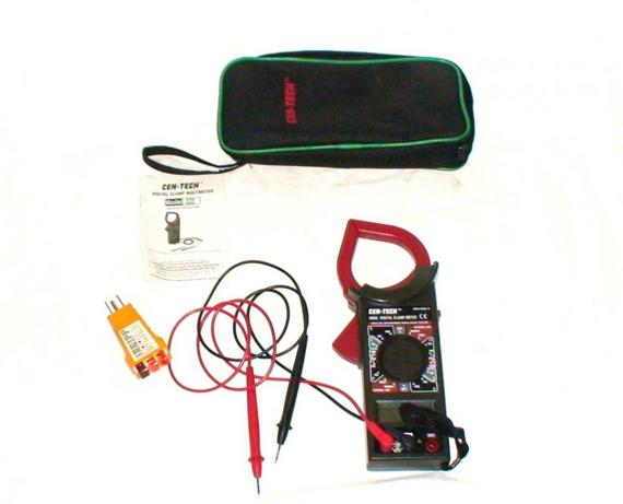 Cen Tech Digital Clamp Meter Mini : Cen tech digital clamp meter with case circuit