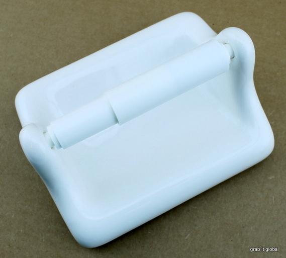 Apple Creek Ceramic Thinset White Toilet Paper Tissue