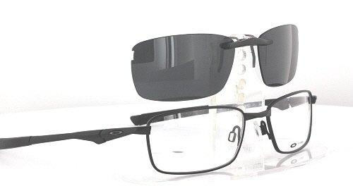 authorized oakley prescription dealer jo1r  OAKLEY BOTTLE ROCKET 40 53X18 CUSTOM POLARIZED CLIP-ON GLASSES SUNGLASSES  NEW