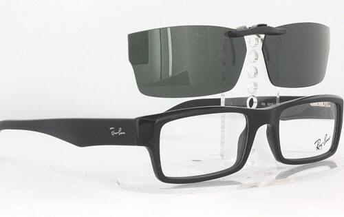 brown ray ban glasses  clip-on glasses