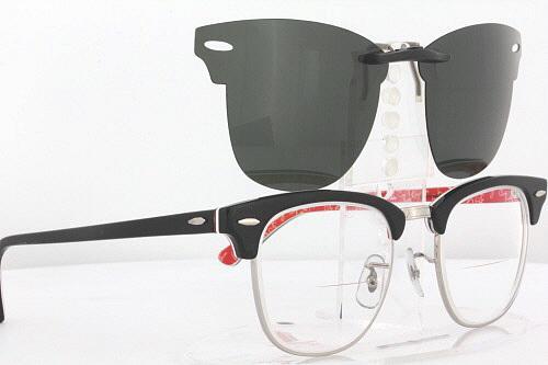 clubmaster sunglasses polarized ttyd  Custom Fit Polarized CLIP-ON Sunglasses For Ray-Ban CLUBMASTER 3016 49x21  RB3016  eBay