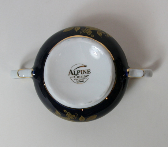 17 pc vintage alpine cuisine tea set fine porcelain china