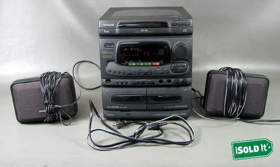 aiwa nsx 5200 karaoke machine w  2 aiwa speakers black dsp cd3 super t bass ebay Karaoke Vision Singing Machine Memorex Karaoke Machine Manual