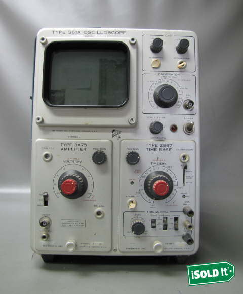 Amp On An Oscilloscope : Vintage tektronix a oscilloscope s n type