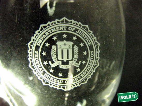 12 new department of justice federal bureau of investigation wine glasses. Black Bedroom Furniture Sets. Home Design Ideas