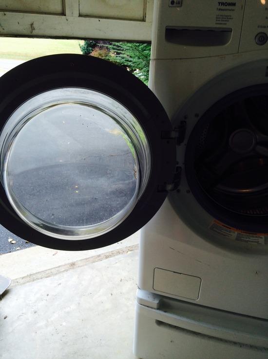 lg washing machine height