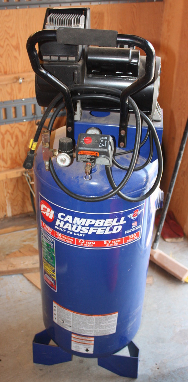 Campbell Hausfeld Air Compressor 6 Gallon : Campbell hausfeld air compressor model wl aj
