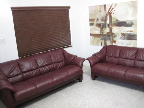 Ekornes Stressless Sofa Couch Loveseat Set Modern Leather