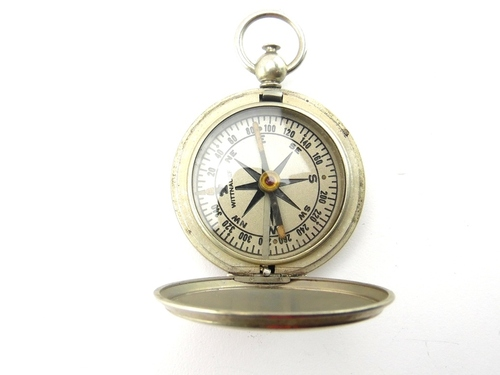 vintage wittnauer silver tone u s issued pocket