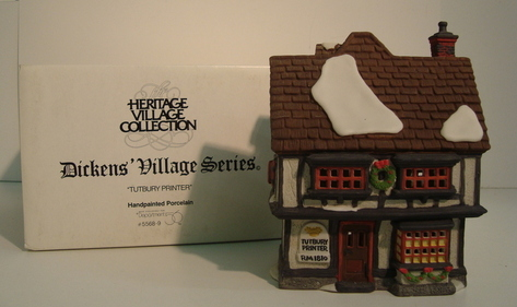 1990 DEPT 56 DICKENS VILLAGE TUTBURY PRINTER OB 5568-9