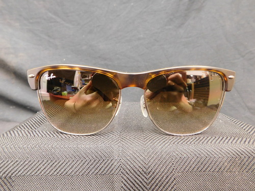 brown clubmaster  clubmaster tortoise/silver