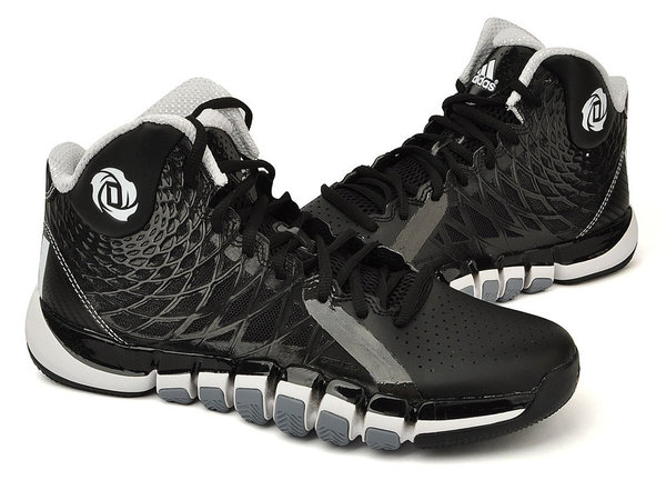 Mens Adidas D Rose 773 II Basketball Shoes Sneakers Q33232 Black White