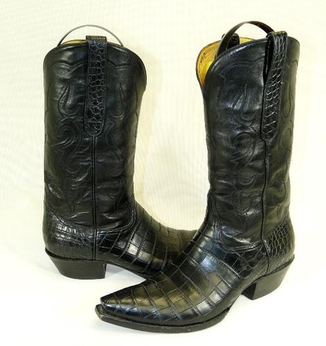 mens black custom alligator cowboy boots shoes 10 5 ebay