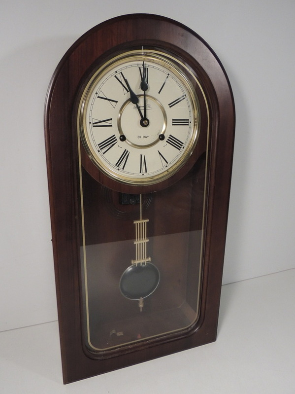 Auzenier Benz Wall Clock 31 Day Pendulum Chime Wooden Ebay
