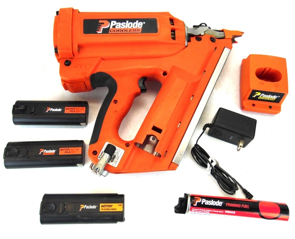 paslode 30 degree cordless framing nailer part number 900420 with case