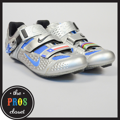 New Nike Lance Limited Edition Cycling Shoes 42 9 5 Silver Blue