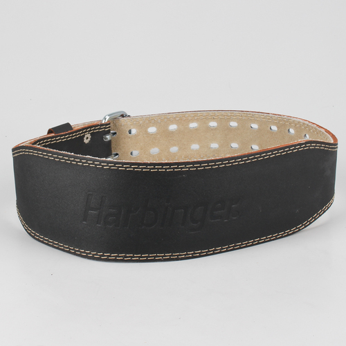 harbinger classic 4 quot padded leather weight lifting belt